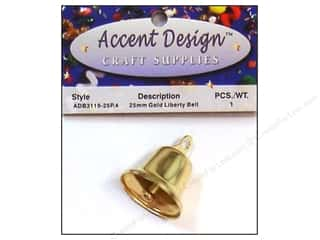 PA Essentials Liberty Bell 1 in. 1 pc. Gold