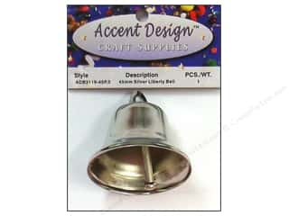 craft & hobbies: PA Essentials Liberty Bell 1 3/4 in. 1 pc. Silver