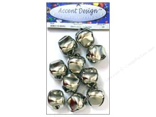 craft & hobbies: PA Essentials Jingle Bells 1 3/16 in. 10 pc. Silver