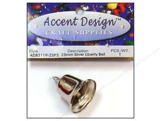 craft & hobbies: PA Essentials Liberty Bell 1 in. 1 pc. Silver