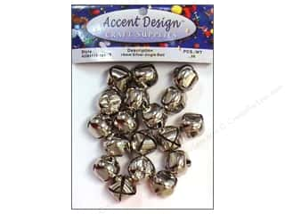 craft & hobbies: PA Essentials Jingle Bells 3/4 in. 26 pc. Silver