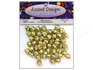 craft & hobbies: PA Essentials Jingle Bells 3/8 in. 65 pc. Gold