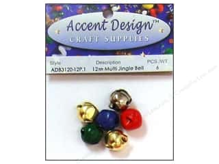 Jingle Bells by Accent Design 1/2 in. 6 pc. Multi