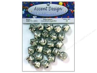 PA Essentials Jingle Bells 5/8 in. 30 pc. Silver