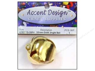 Jingle Bells by Accent Design 1 3/8 in. 1 pc. Gold