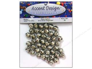 craft & hobbies: PA Essentials Jingle Bells 3/8 in. 65 pc. Silver
