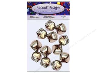 Jingle Bells by Accent Design 1 in. 12 pc. Silver