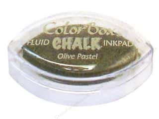 Clearance ColorBox Fluid Chalk Ink Pad Queues: ColorBox Fluid Chalk Ink Pad Cat's Eye Olive Pastel
