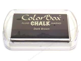Clearance ColorBox Fluid Chalk Ink Pad Mini Size: ColorBox Fluid Chalk Inkpad Full Size Dark Brown