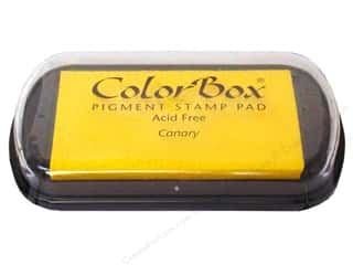 paper yellow: Colorbox Full Size Pigment Inkpad Canary