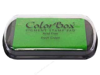 stamps: Colorbox Full Size Pigment Inkpad Fresh Green