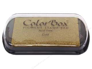embossing ink: Colorbox Full Size Pigment Inkpad Metallic Gold
