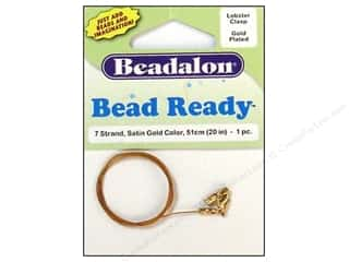 "7"" wire: Beadalon 7 Strand Wire Lobster Clasp 20 in. Gold"