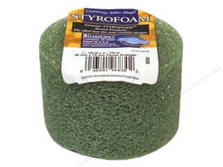 floracraft styrofoam green wreath: FloraCraft Styrofoam Disc Arranger 3 x 2 in. Green 1 pc.