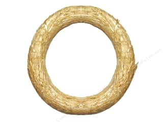 straw wreath: FloraCraft Straw Wreath 18 in. Clear Wrap