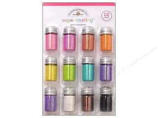 craft & hobbies: Doodlebug Glitter Sugar Coating Assorted 12 pc