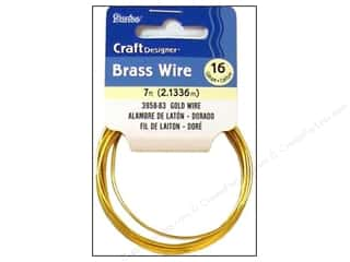 16 gauge wire: Darice Copper Craft Wire 16 ga. 7 ft. Gold