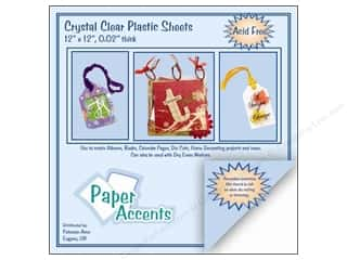 Plastic / Acetate Sheets: Plastic Sheet 12 x 12 in. by Paper Accents Clear .02 in. (25 sheets)
