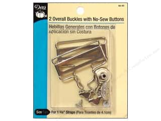 Jean Buttons: Overall Buckle with Button by Dritz 1 5/8 in. Nickel