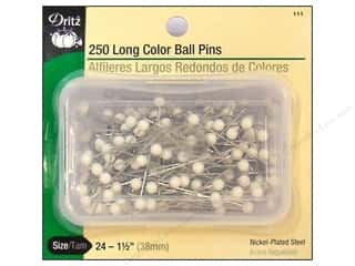 Color Ball Pins Long by Dritz Size 24 250 pc.
