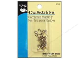Coat Hooks and Eyes by Dritz Nickel 4 pc