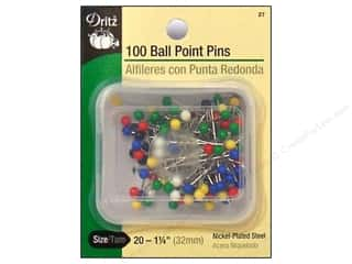 Ball Point Pins by Dritz Size 20 100pc.