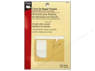 sewing & quilting: Iron On Repair Pockets by Dritz White 2pc