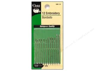 sewing & quilting: Embroidery Needles by Dritz Size 1/5 12pc