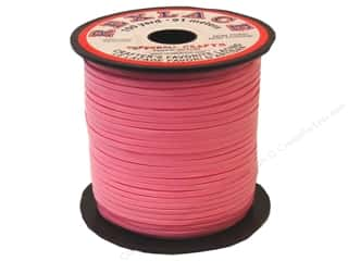 beading & jewelry making supplies: Pepperell Rexlace Craft Lace 100 yd. Pink