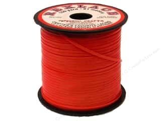 beading & jewelry making supplies: Pepperell Rexlace Craft Lace 100 yd. Red