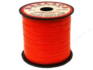 beading & jewelry making supplies: Pepperell Rexlace Craft Lace 100 yd. Orange