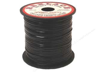 beading & jewelry making supplies: Pepperell Rexlace Craft Lace 100 yd. Black