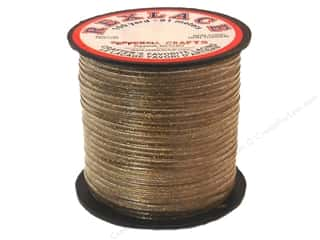 beading & jewelry making supplies: Pepperell Rexlace Craft Lace 100 yd. Gold Sparkle