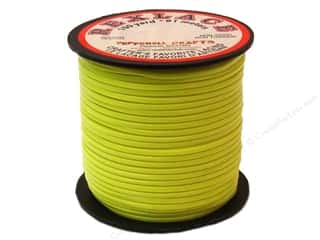 beading & jewelry making supplies: Pepperell Rexlace Craft Lace 100 yd. Neon Yellow