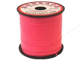 beading & jewelry making supplies: Pepperell Rexlace Craft Lace 100 yd. Neon Pink