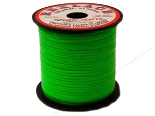beading & jewelry making supplies: Pepperell Rexlace Craft Lace 100 yd. Neon Green
