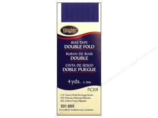 Wrights Double Fold Bias Tape 4 yd. Navy