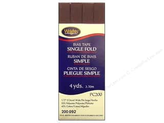 Wrights Single Fold Bias Tape 4 yd. Seal Brown