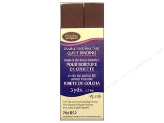 Wrights Double Fold Quilt Binding 3 yd. Seal Brown