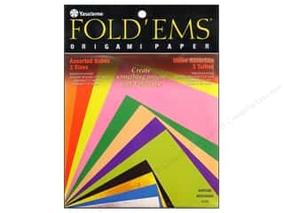 Y&C: Yasutomo Fold Ems Origami Paper Assorted Size Solid Small 55pc