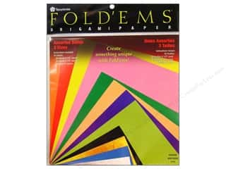 patterned paper: Yasutomo Fold Ems Origami Paper Assorted Size 55 pc. Solid Medium