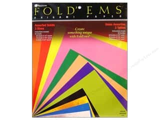 patterned paper: Yasutomo Fold Ems Origami Paper Assorted Size 55 pc. Solid Large