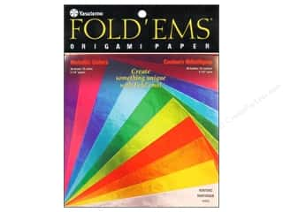 scrapbooking & paper crafts: Yasutomo Fold Ems Origami Paper 5 7/8 in. 36 pc. Metallic