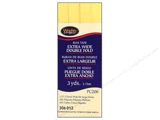 Wrights Extra Wide Double Fold Bias Tape 3 yd. Lemon Ice