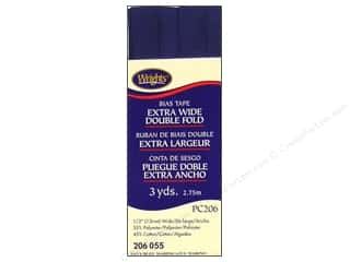 Wrights Extra Wide Double Fold Bias Tape - Navy 3 yd.