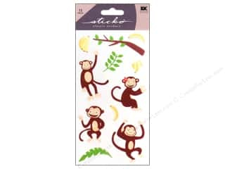 scrapbooking & paper crafts: EK Sticko Stickers Monkey