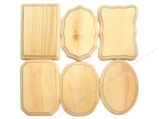 Demis Wood Plaques 5 x 7 in. Assortment (36 pieces)