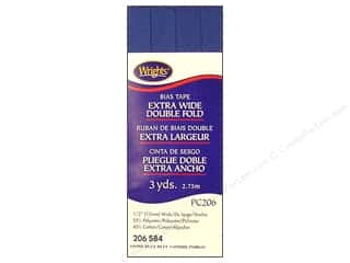 Wrights Extra Wide Double Fold Bias Tape - Stone Blue 3 yd.