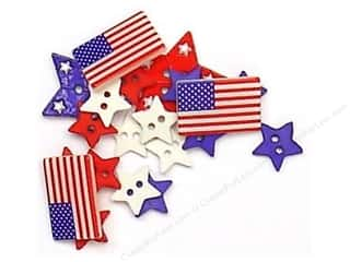 scrapbooking & paper crafts: Jesse James Dress It Up Embellishments Patriotic Shapes
