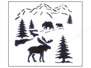 craft & hobbies: StenSource Painting Stencil 5 in. Small Northwoods